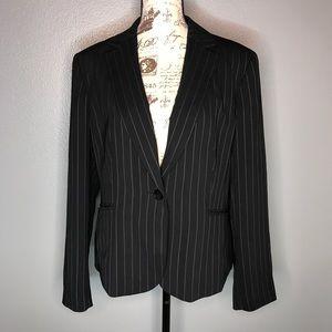 Nine West Blazer Suit Pinstriped Jacket size 14